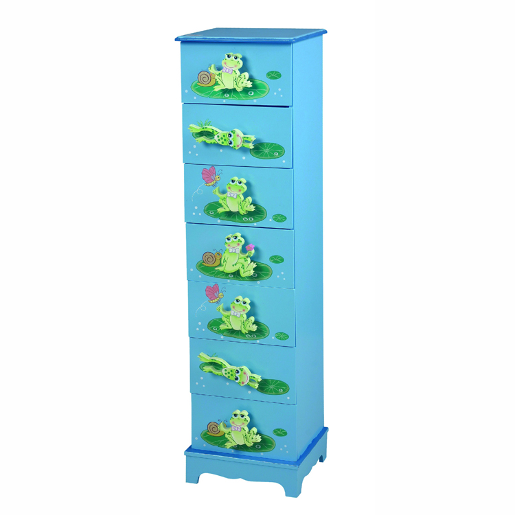 Frog Cartoon 7 Layers of Chest of Drawers Organizer Blue