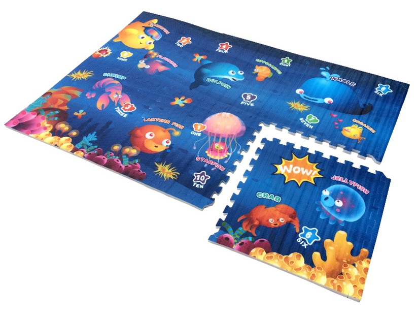 Sea World Epe Foam Play Puzzle Mat Rug Double Sided 6 Pcs