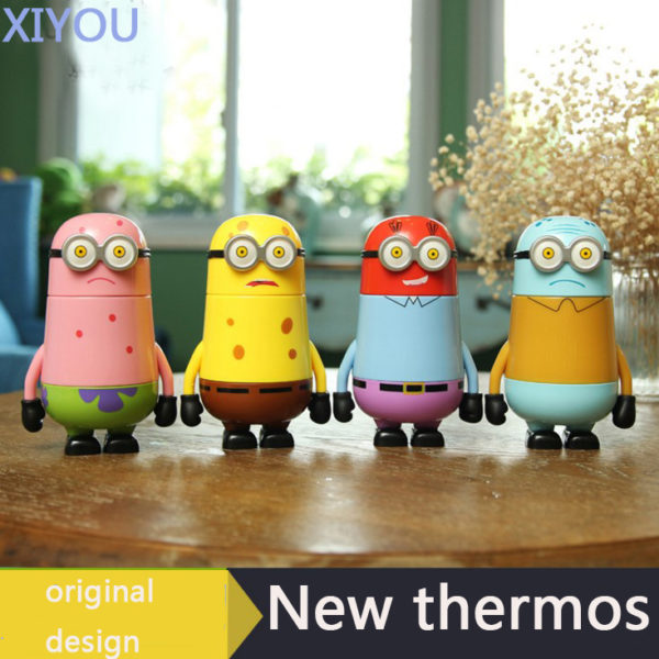 Minions Thermos Water Bottle Vacuum Flasks 248 Ml The