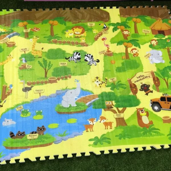 Wild Animal Zoo Foam Play Puzzle Mat 12 Pcs The Tickle Toe