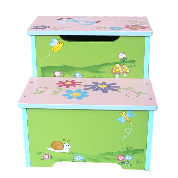 Magic Garden Wooden Storage Step Stool The Tickle Toe