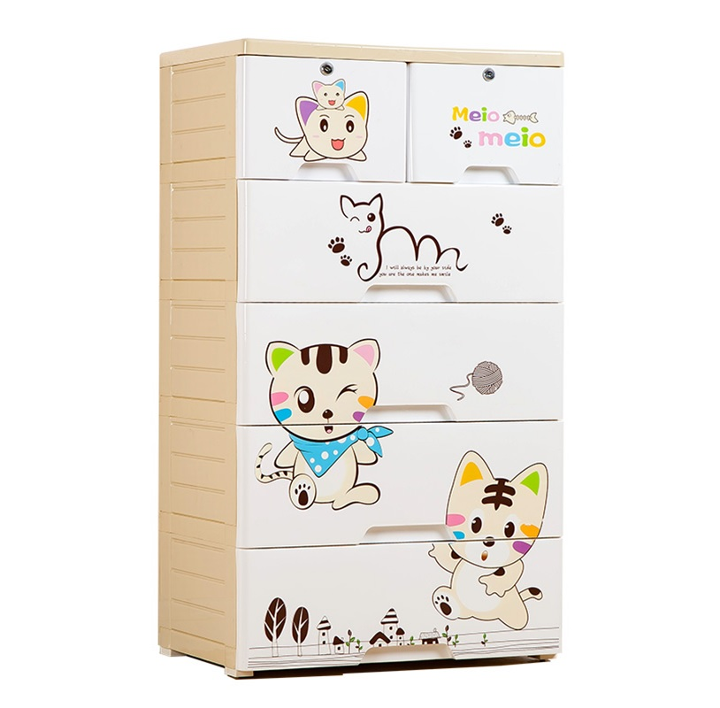 Meow 5 Layer Storage Chest of Drawer Cabinet
