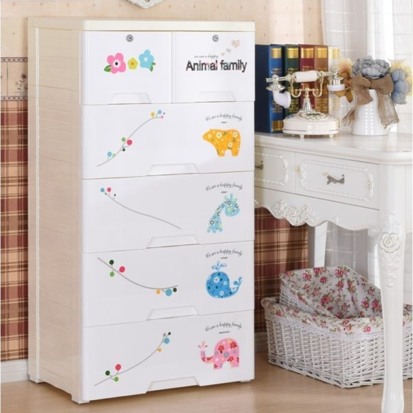 Animal Family 5 Layer Storage Chest Of Drawer Cabinet