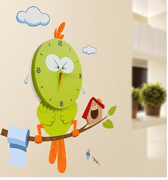 colorful clock , wall clock , kids room decor , kids room decoration ideas , baby room decor , thetickletoe 3D wall clock