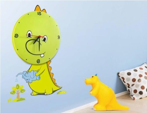 DIY 3D Sticker Wall Clock Decal Dinosaur Cartoon