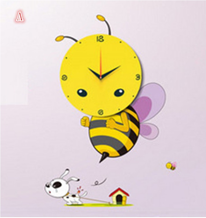 Diy 3d Sticker Wall Clock Decal Honey Bee Cartoon The