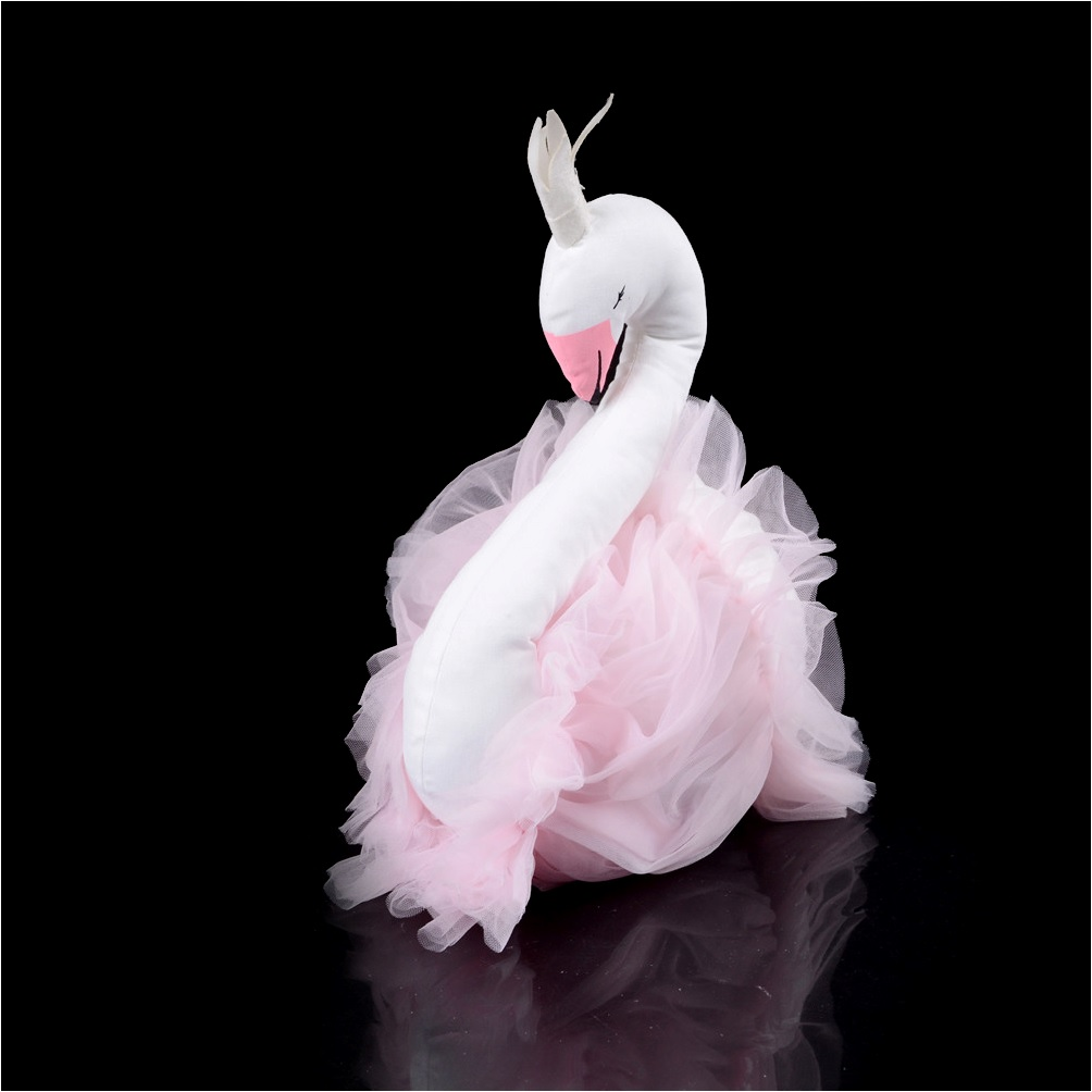 Wall Hanging Stuffed Toy Pink Swan