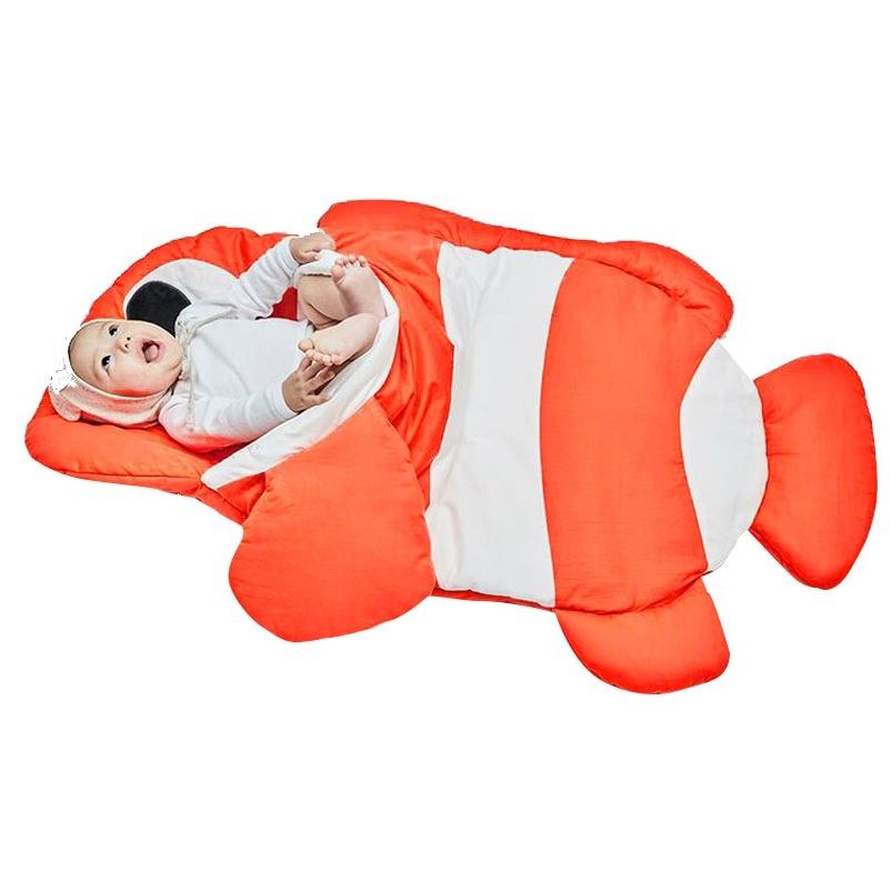 Orange Fish Sleeping Bag Stroller Liner Swaddle