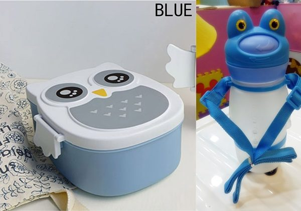 Owl Lunch Box Sipper Bottle Combo Blue The Tickle Toe