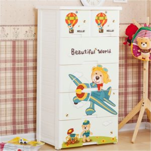 plastic wardrobe. plastic cupboard kids clothes, cartoon closet kids, children storage, chest of drawer plastic kids room