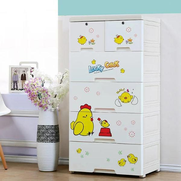 Lucky Chick 5 Layer Storage Drawer Cabinet Kids Furniture White