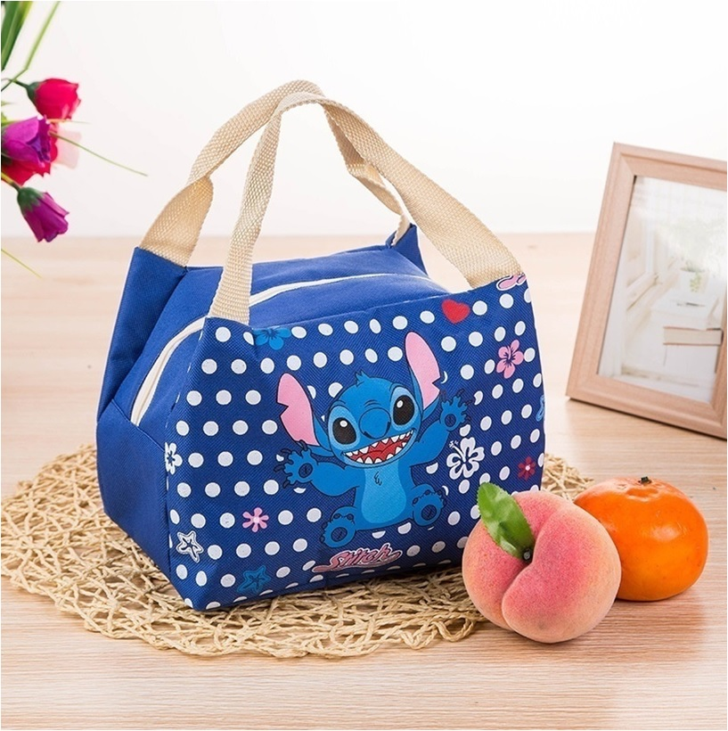 Kids School Insulated Lunch Travel Bag Stitch