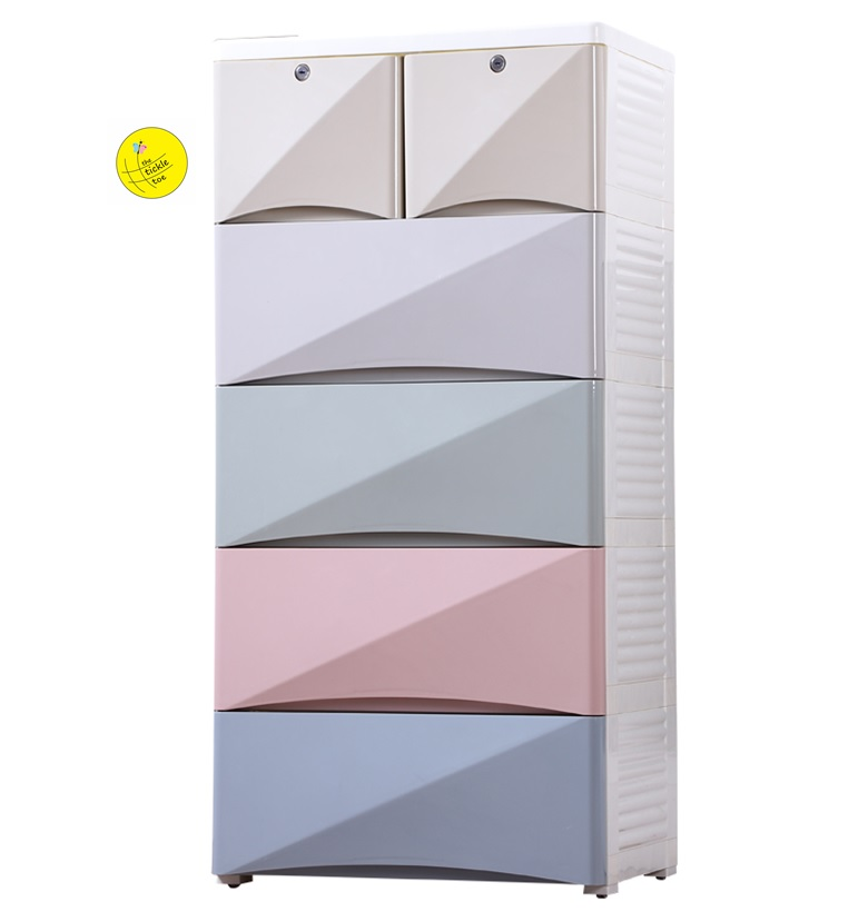 MultiColor 5 Layer Room Storage Drawer Cabinet