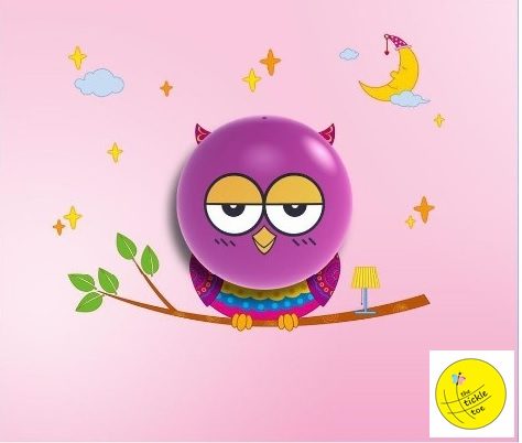 Baby Room Owl Wall Lamp Light 3D Wall Sticker