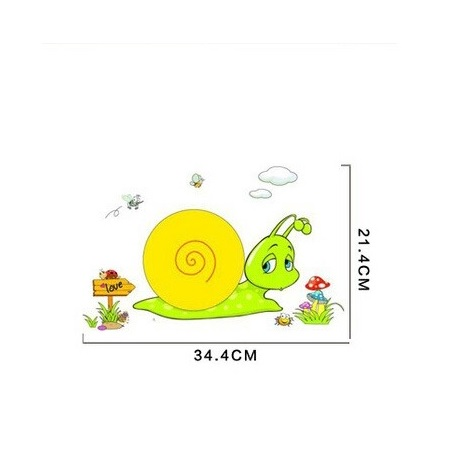 Baby Room Snail Wall Lamp Light 3D Wall Sticker