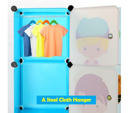 Kids Closet Wardrobe Storage Organizer Portable