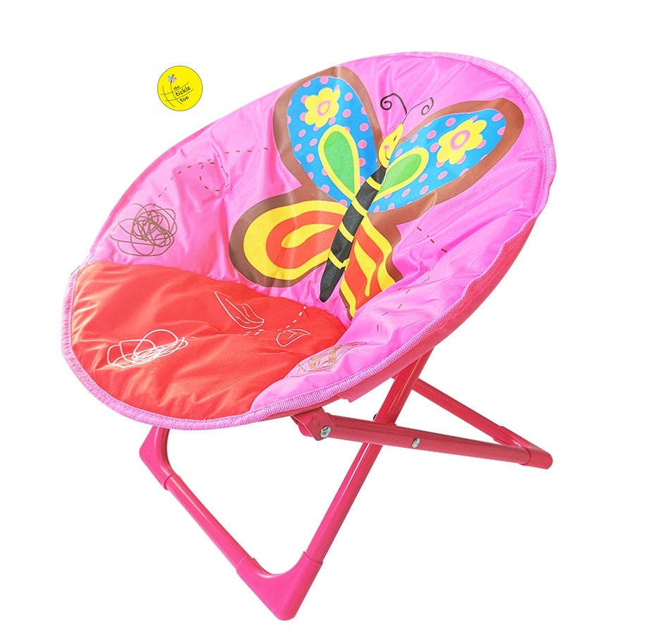 Kids Baby Foldable Moon Chair Room Decor Storage