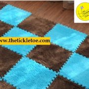 PLAY MAT FOR KIDS, ROOM INTERLOCKING MATS, PUZZLE FUR MAT, CUTE SOFT MATS, THETICKLETOE