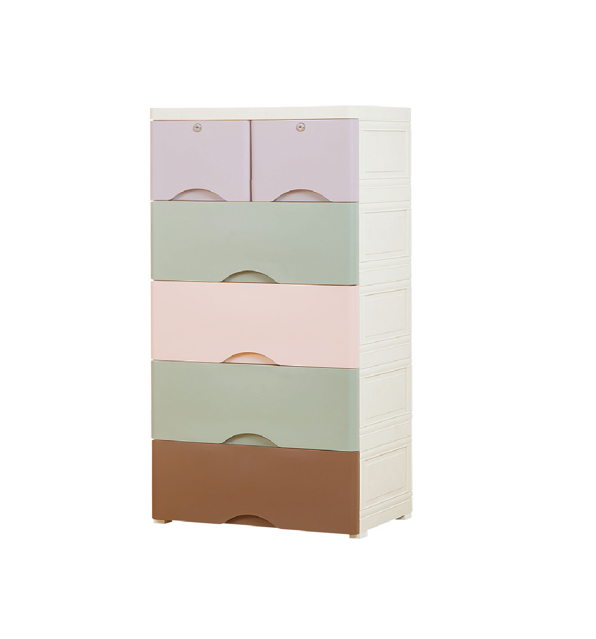 Multi Color Cabinet /Organizer/Storage Bedroom Baby Nursery DIY 6 Drawers With Lock 58 L 40 D 116 H CMS
