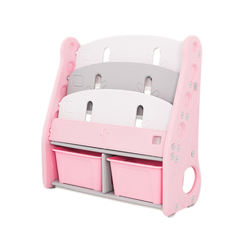 Toy Organizer with Book Rack Pink 80 x 34 x 85 CM