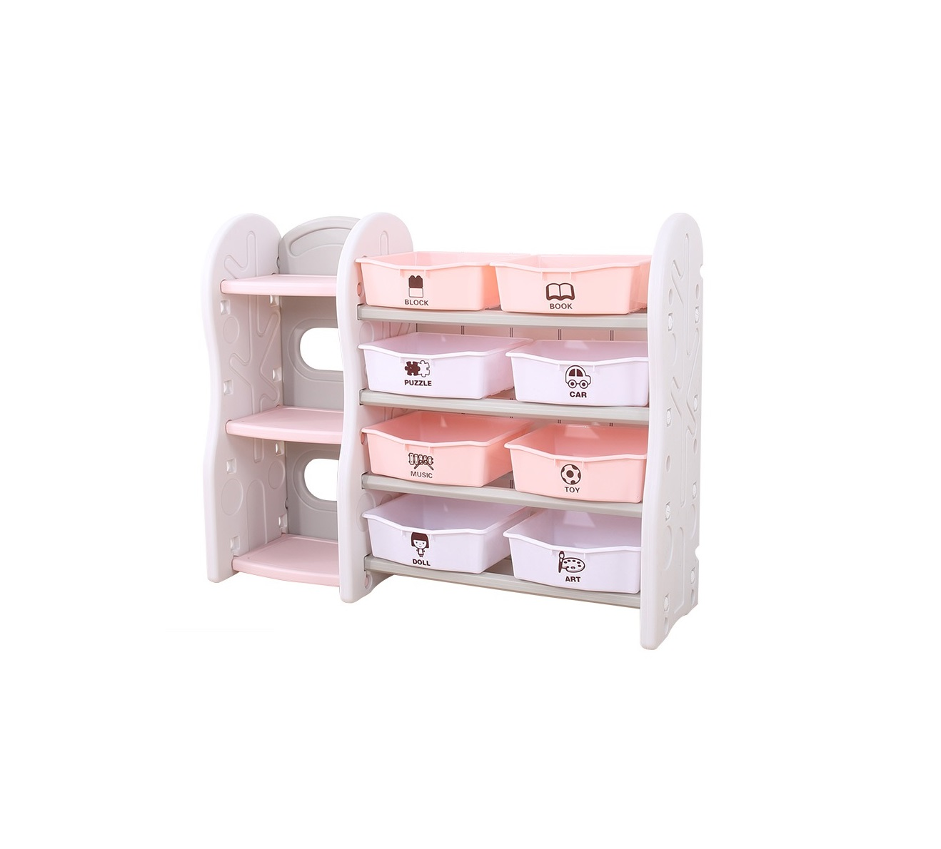 storage shelf stand rack organizer shelf toy basket